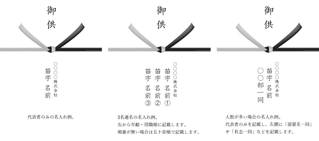 弔辞 熨斗 名入れ 名前 記入例