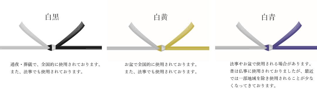 弔辞 熨斗 水引 白黒 白黄 白青